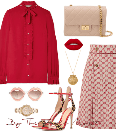 Gucci Red Skirt.