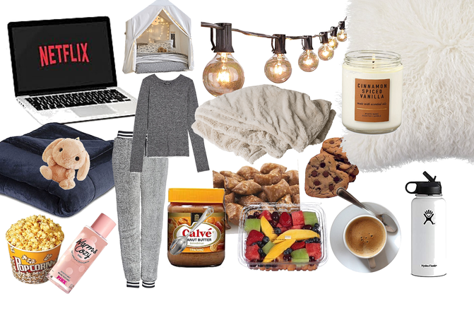 cozy Netflix sleepover