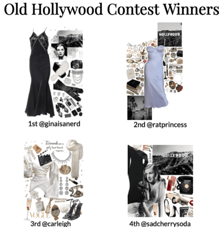 Old Hollywood Glamour Contest Winners