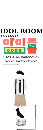 EDWARD AS GUEST HOST ON IDOL ROOM.