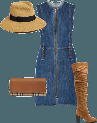 Styling Denim Dresses #2