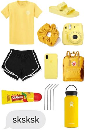 VSCO girl yellow