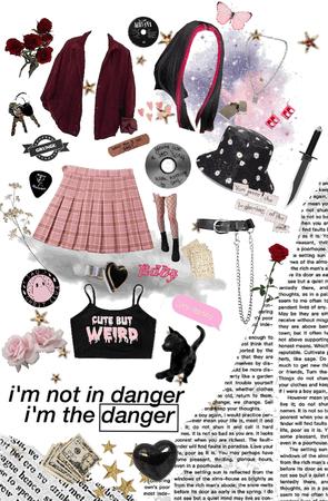 egirl- pink and black