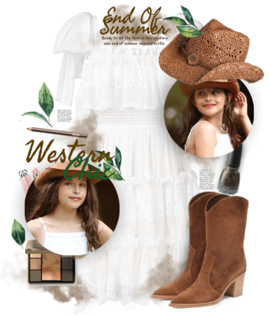 Western chic end of summer look
