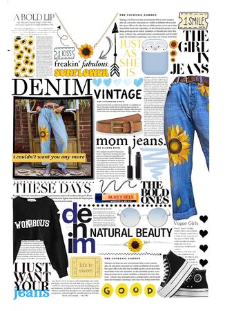 cuffed jeans trend 💛💙