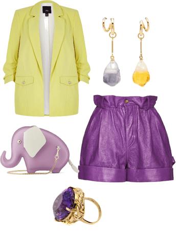 Purple and Yellow