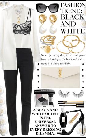 •Lingerie Inspired Black & White•