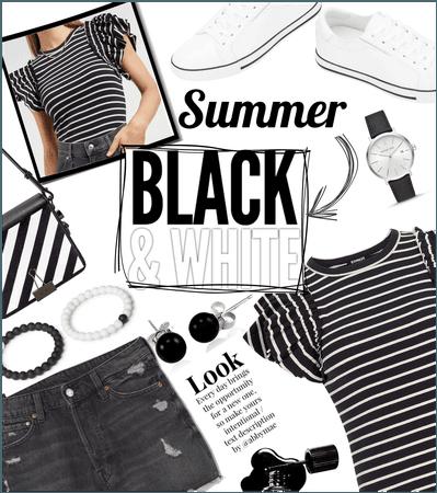 Summer : black and white