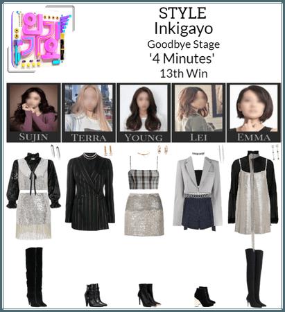 STYLE Inkigayo '4 Minutes' Goodbye Stage