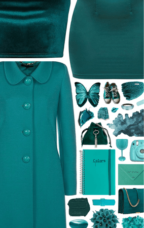 something teal.
