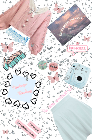 Baby blue and pastel pink!