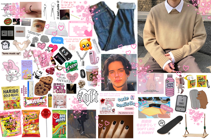 Soft, Skater Boy (me dunno wut fem means) fowr my wittle chwick @toxic_senpai me twied