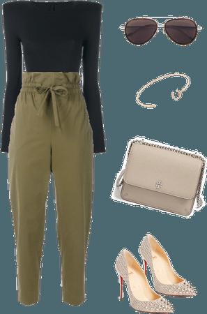How to Wear Khaki Palazzo Pants