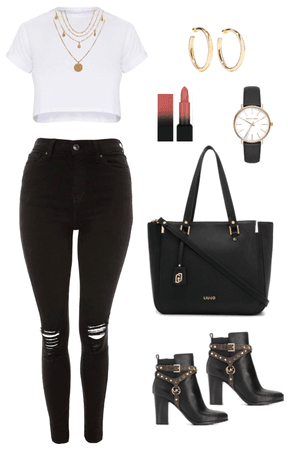 Cute Casual Black and White look