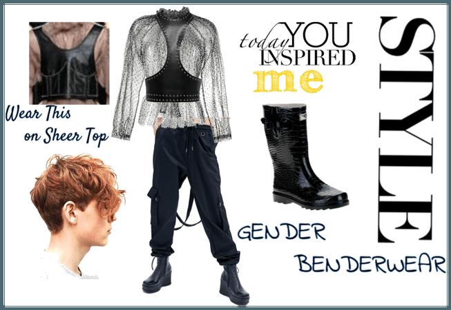 gender bender fashion event look