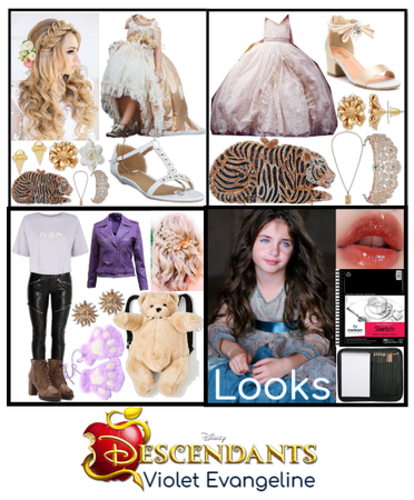 Violet Evangeline ~ Descendants Main Outfits