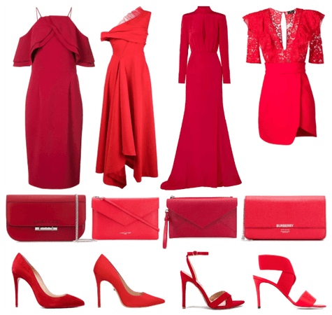 Hitting the red carpet in red