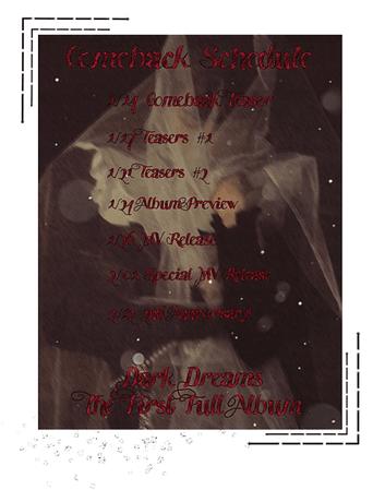 {3D} 'Dark Dreams' Comeback Schedule