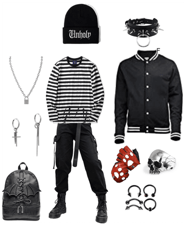 Grunge androgynous goth