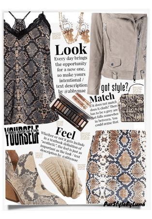 How To Rock A Beanie With Neutrals And Snake Print
