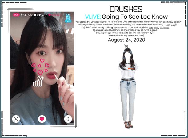 Crushes (호감) Yeji Surprise Vlive