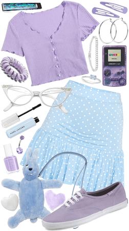 powder blue & lavender