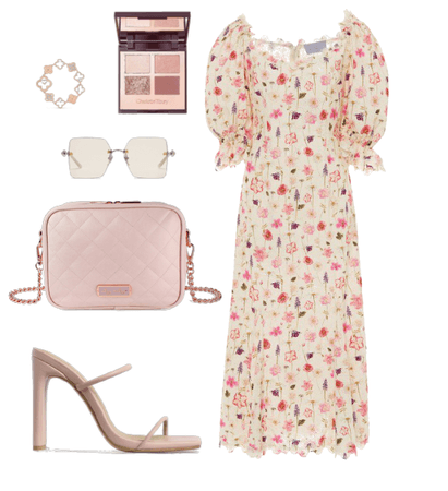 Blush Crossbody Floral Fit