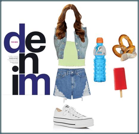 Young teen Denim Shorts