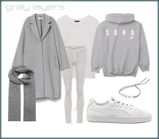 gray soho ny hoodie