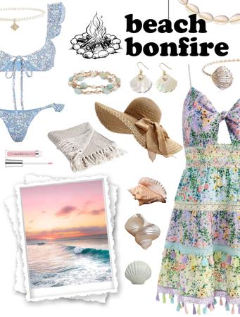 Sweet Summer Beach Bonfire