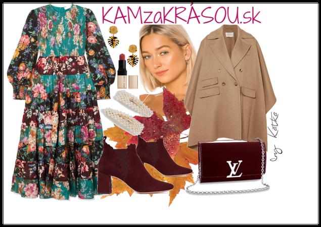 Jesenný outfit so šatami