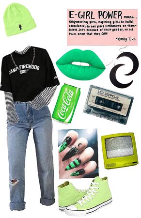 Neon Green eGirl
