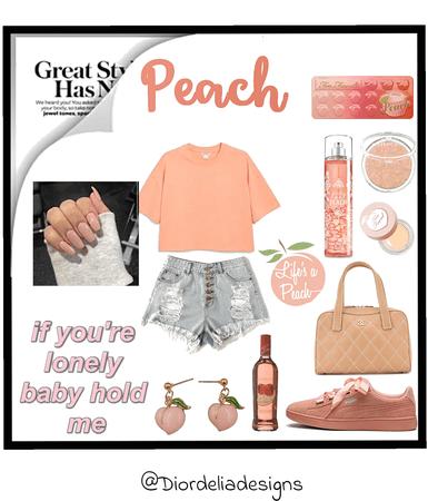 peach & pink aethstetic