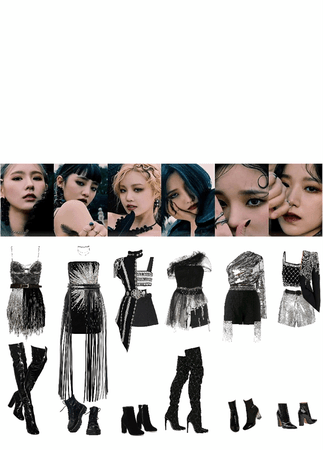 (G)-IDLE oh my god stage outfits