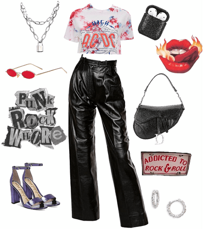 GRUNGE LEATHER ROCK LOOK