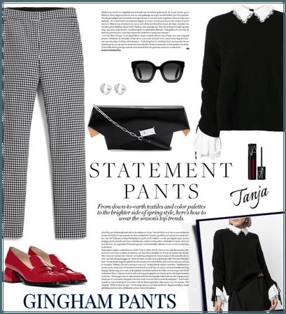 Statement Pants/Gingham