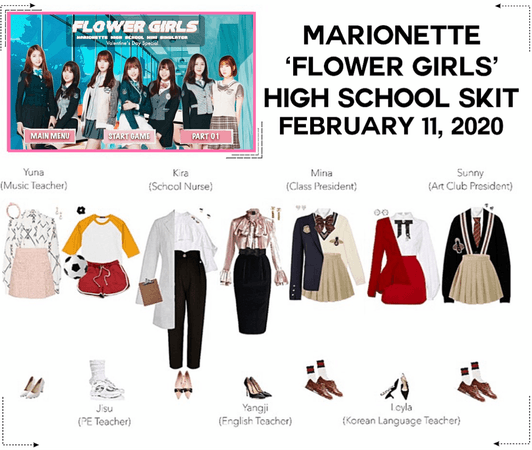 MARIONETTE (마리오네트) 'Flower Girls' Mini High School Skit