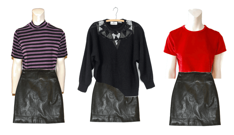 Options with Leather Skirt