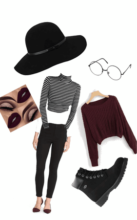 maroon black and white