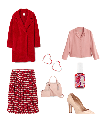 Red and Pink Valentine Look