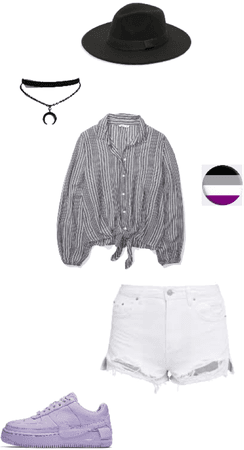 Asexual Pride Flag Inspired Outfit