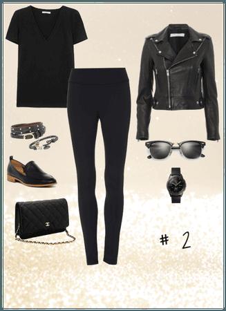 Black T-shirt and Leggings #2