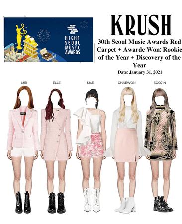 KRUSH 30th Seoul Music Awards Red Carpet + Awards Won