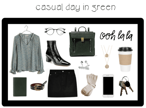 casual day in green
