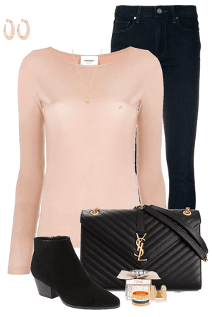 Blush & Black Fall Outfti
