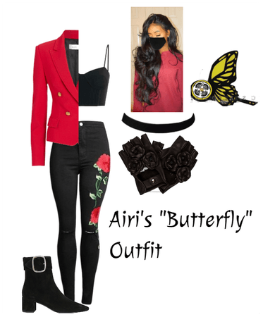 """Airi's """"Butterfly"""" outfit"""