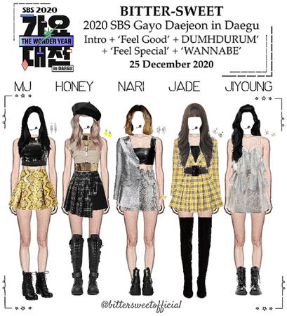 BITTER-SWEET [비터스윗] 2020 SBS Gayo Daejeon in Daegu 201225