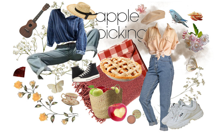 apple picking style.