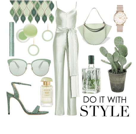 Day look #16 - cucumber and sage