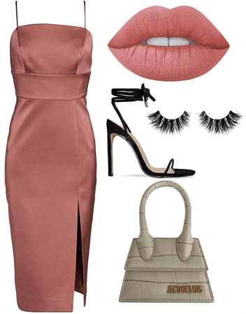 rose nude night out outfit